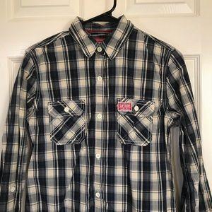 S&D Superdry Shirt Shop Long Sleeve Button Down